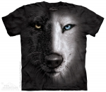 Black & White Wolf Face - The Mountain