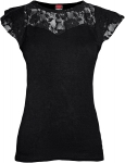 Gothic Elegance - Lace Sleeve Top - Spiral - Damska