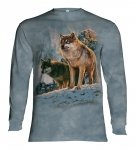Wolf Couple Sunset - Long Sleeve The Mountain