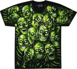 Skull Pile Green - Glow - Liquid Blue
