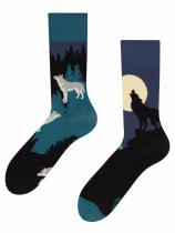 Vlk za úplňku - Ponožky Good Mood