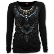 Raven Skull - Baggy Top Spiral – Ladies