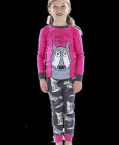 Girls Howl of a Night - Pyžamo dětské dlouhý rukáv – LazyOne