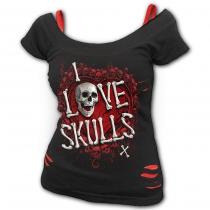 Love Skulls - 2in1 Spiral Ladies