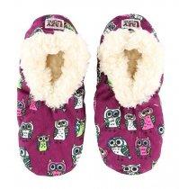 Night Owl Fuzzy Feet - Papučky - LazyOne