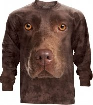Chocolate Lab Face - Long Sleeve The Mountain