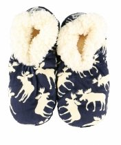 Moose Blue Fuzzy Feet - Papučky - LazyOne