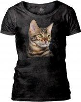 Striped Cat Portrait - The Mountain Damska