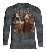Patriotic Buck - Long Sleeve The Mountain