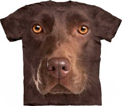 Chocolate Lab Face - T-shirt The Mountain