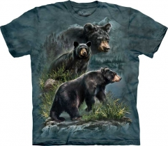 Three Black Bears - T-shirt The Mountain