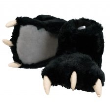 Black Bear Paw Slippers - Bačkory - LazyOne