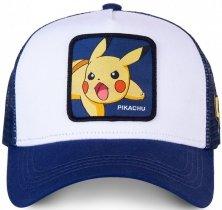 Pikachu Pokemon White - Kšiltovka Capslab