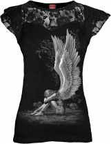 Enslaved Angel - Lace Sleeve Top - Spiral
