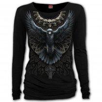 Raven Skull - Baggy Top Spiral - Damska