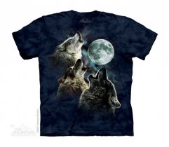 Three Wolf Moon in Blue - The Mountain - Junior