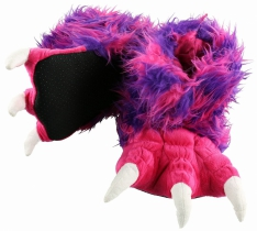 Pink & Purple Monster Paw Slippers - Papcie LazyOne
