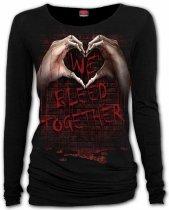 We Bleed Together - Baggy Top Spiral - Damska
