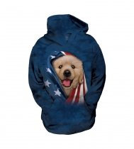 Patriotic Golden Pup - The Mountain - Bluza Junior