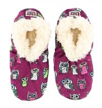 Night Owl Fuzzy Feet - Papcie - LazyOne