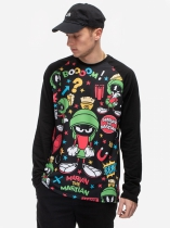 Marvin Martian Pattern Longsleeve - Looney Tunes