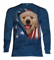 Patriotic Golden Pup - Long Sleeve The Mountain