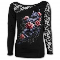 Dragon Rose Slant - One Lace Sleeve Spiral