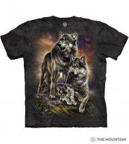 Wolf Family Sunrise - Junior The Mountain