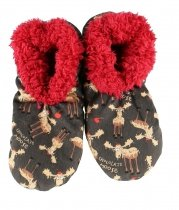 Chocolate Moose Fuzzy Feet  - Papcie - LazyOne