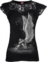 Enslaved Angel - Lace Sleeve Top - Spiral - Damska