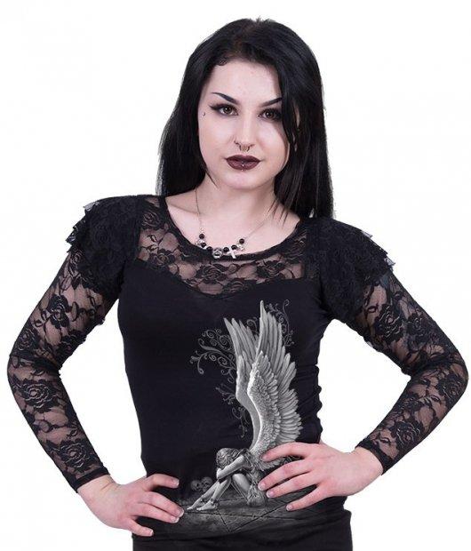 Enslaved Angel - Lace Long Sleeve Spiral