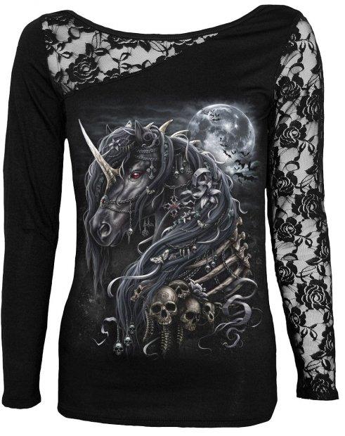 Dark Unicorn - Lace One Shoulder Spiral