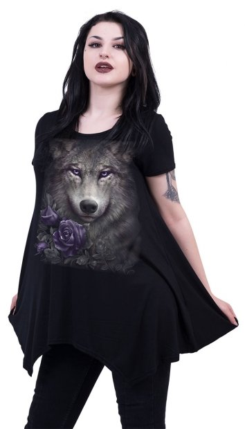 Wolf Roses - Smock Tunic - Spiral