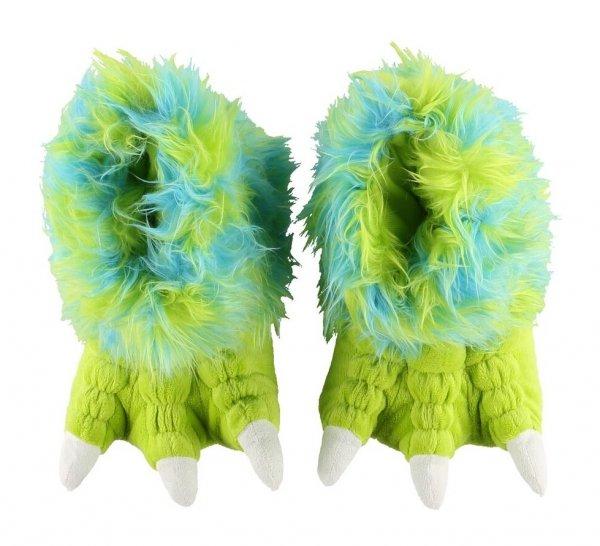 Green Monster Paw Slippers - Bačkory LazyOne