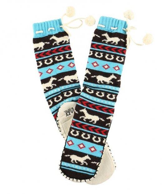 Horse Fair Isle Mukluk - Ponožky do bačkor - LazyOne