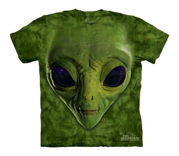 Green Alien Face - The Mountain - Koszulka  Junior