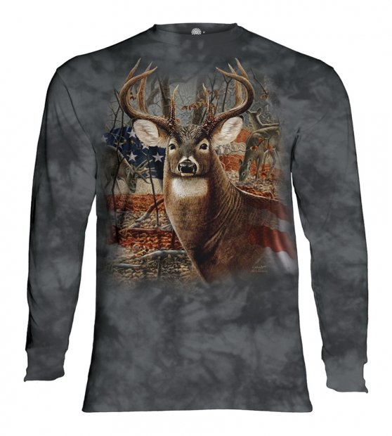 Patriotic Buck - Long Sleeve The Mountain