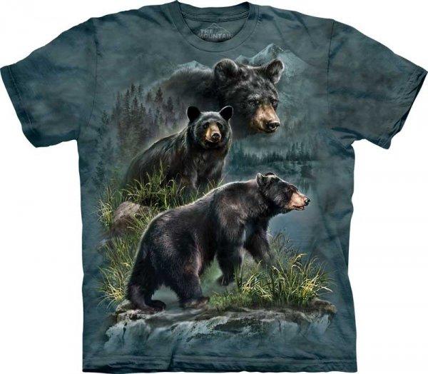 Three Black Bears - T-shirt The Mountain