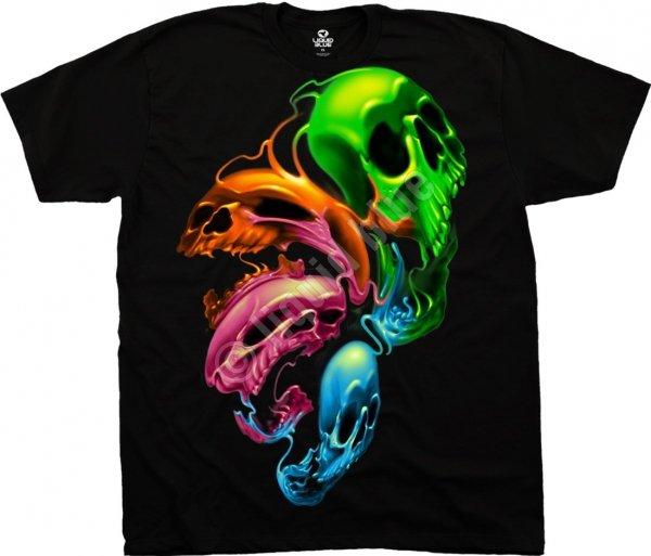 Liquid Neon Skulls - Liquid Blue