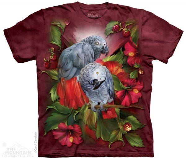 African Gray Mates - T-shirt The Mountain