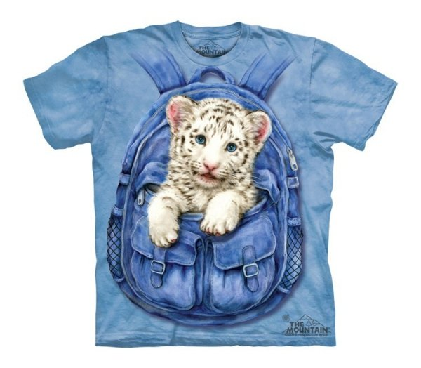 Backpack White Tige - The Mountain - Junior