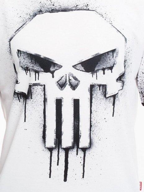 punisher comics painted logo marvel koszulka marvel