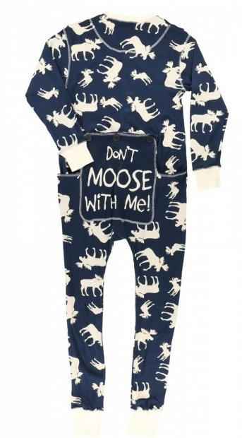 Classic Moose Blue - Flapjack - Piżama Pajac - LazyOne