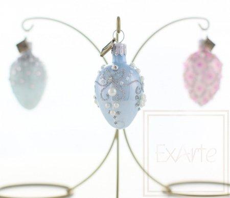 Eier 5 cm, 3 Stück - Perlen-Pastell