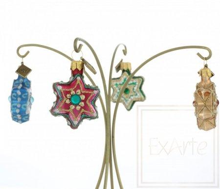 Gwiazdki 3cm, 4 sztuki - Świąteczne