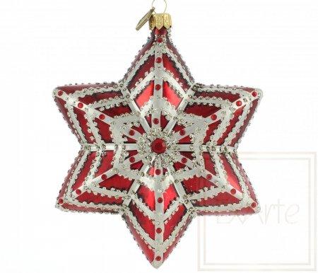 Gwiazda 12cm - Rubinowa