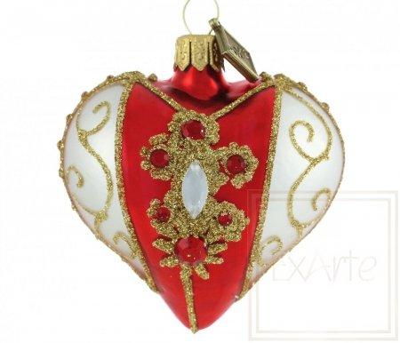 Serce 5cm - Kolia na czerwieni