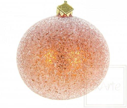 Kugel 8cm, Perliger Raureif auf Orangen
