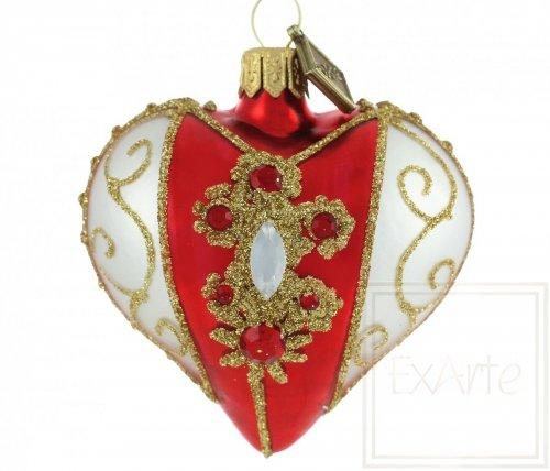 Herz 5cm – Kollier auf Rot