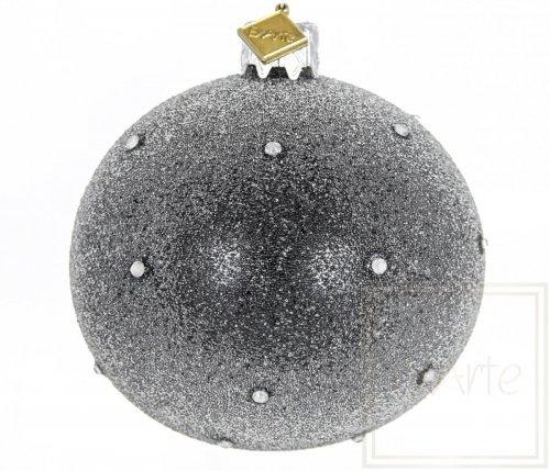 Kugel 8cm, Sternenstaub auf Schwarz